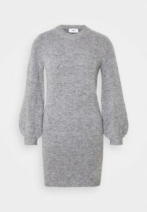 OBJEVE NONSIA DRESS  - Strikket kjole - light grey melange
