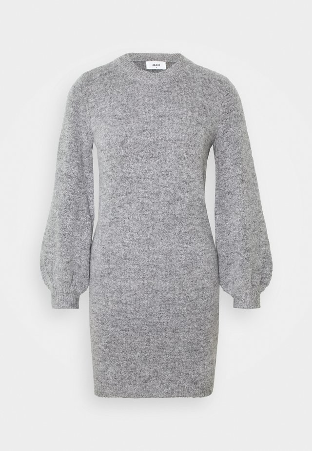 OBJEVE NONSIA DRESS  - Strikket kjole - light grey melange