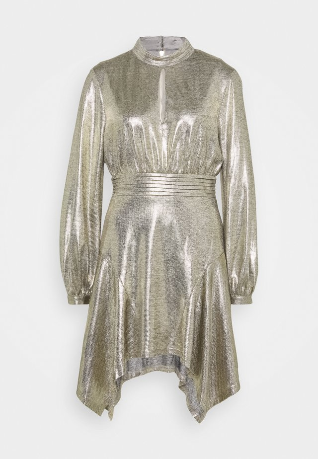 THE ERA MINI DRESS - Robe de soirée - gold