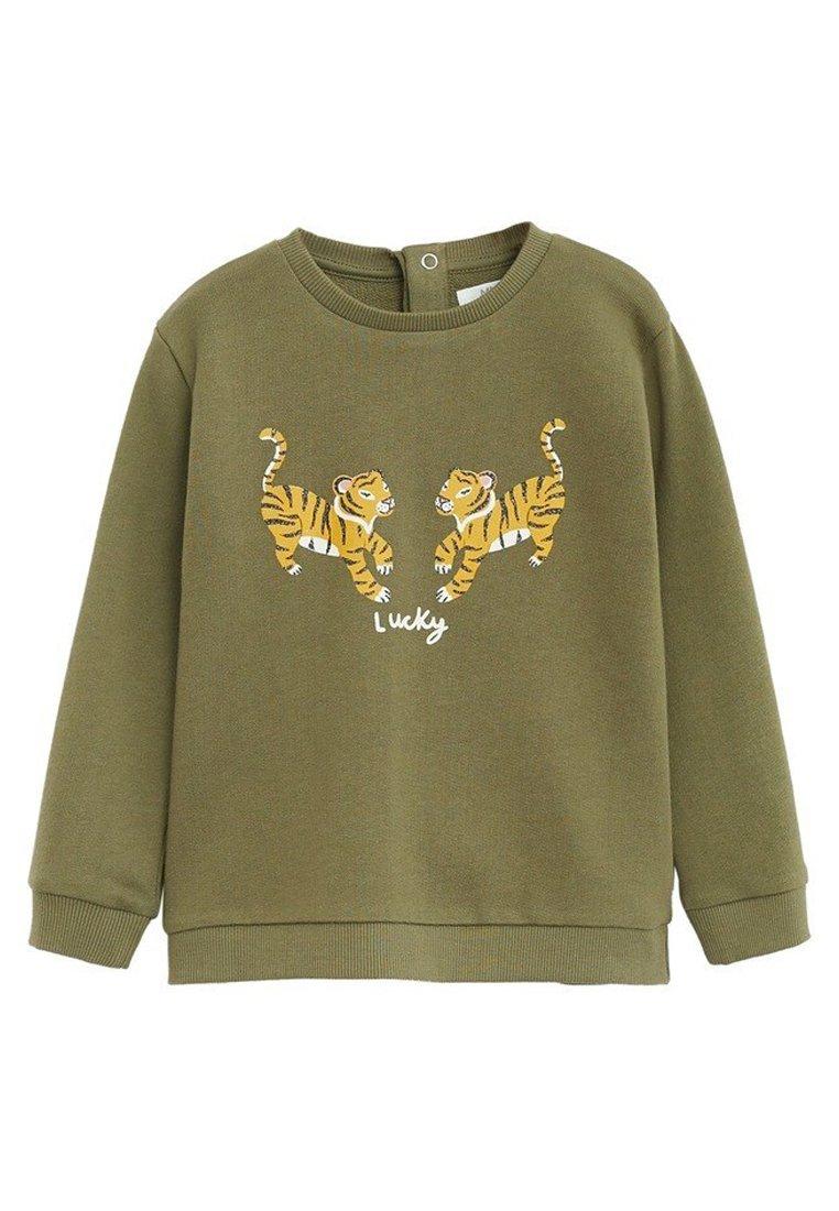 Große Förderung Mango GEMUSTERTES BAUMWOLL-SWEATSHIRT - Sweatshirt - khaki   Damenbekleidung 2020