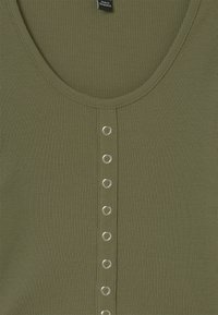 New Look 915 Generation - POPPER FRONT - Long sleeved top - khaki - 2