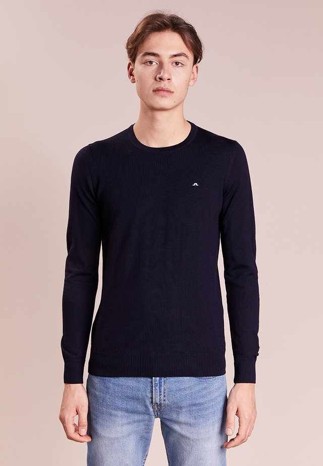 LYLE TRUE MERINO - Strickpullover - navy