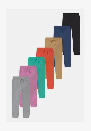 7 PACK UNISEX - Spodnie treningowe - black/grey/dark blue