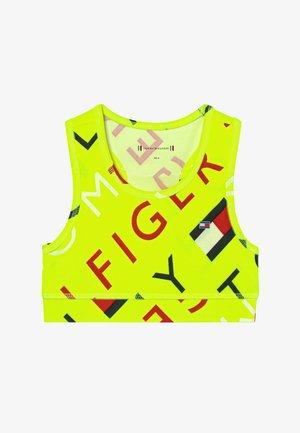 SPORTS PRINTED LOGO - Sportovní podprsenka - yellow