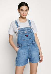 Tommy Jeans - DUNGAREE - Dungarees - blue denim - 0