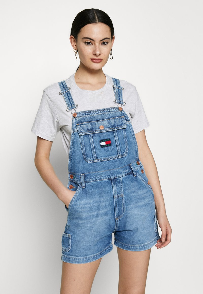 Tommy Jeans - DUNGAREE - Dungarees - blue denim