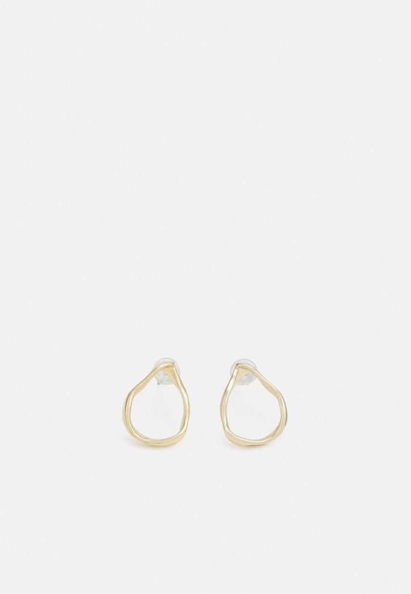 SNÖ of Sweden - ALBA DROP EAR PLAIN  - Earrings - gold-coloured
