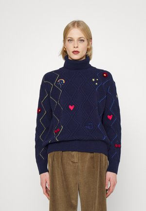 ROLL NECK - Pulover - blue