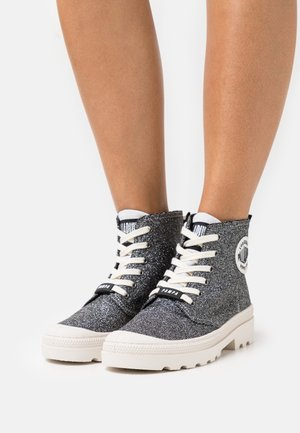 AVENUE HIGH GLIT - Lace-up ankle boots - anthracite