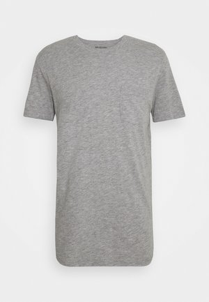 SLHREGCARLOS  O NECK TEE - Basic T-shirt - light grey melange