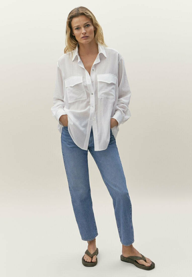 Massimo Dutti - Straight leg jeans - blue