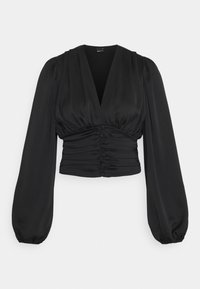 Gina Tricot - VICTORIA BLOUSE - Long sleeved top - black - 4