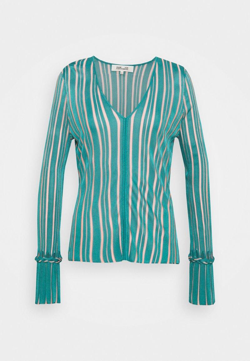 Diane von Furstenberg - SHIRLEY - Neule - placid blue/pale pink