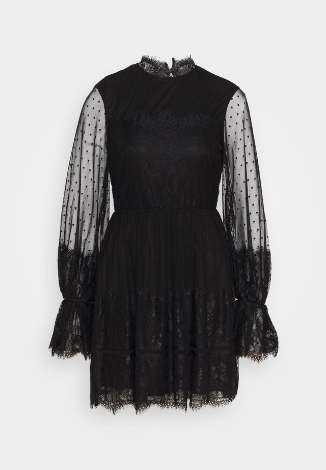 FRILL DRESS - Cocktailkjole - black