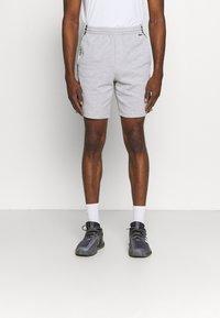 Lacoste Sport - SHORT  - Sports shorts - heidekraut grau/weiß/schwarz - 0