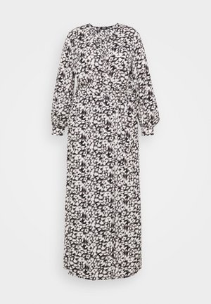 PLUNGE DRESS LEOPARD - Maxi dress - black