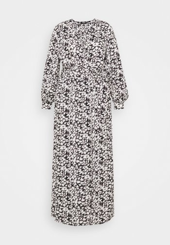 PLUNGE DRESS LEOPARD