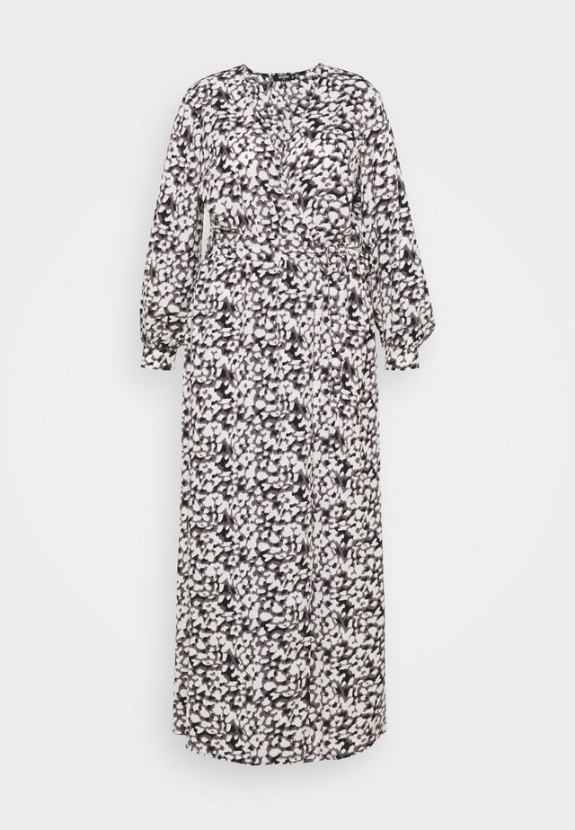 PLUNGE DRESS LEOPARD - Maxi-jurk - black