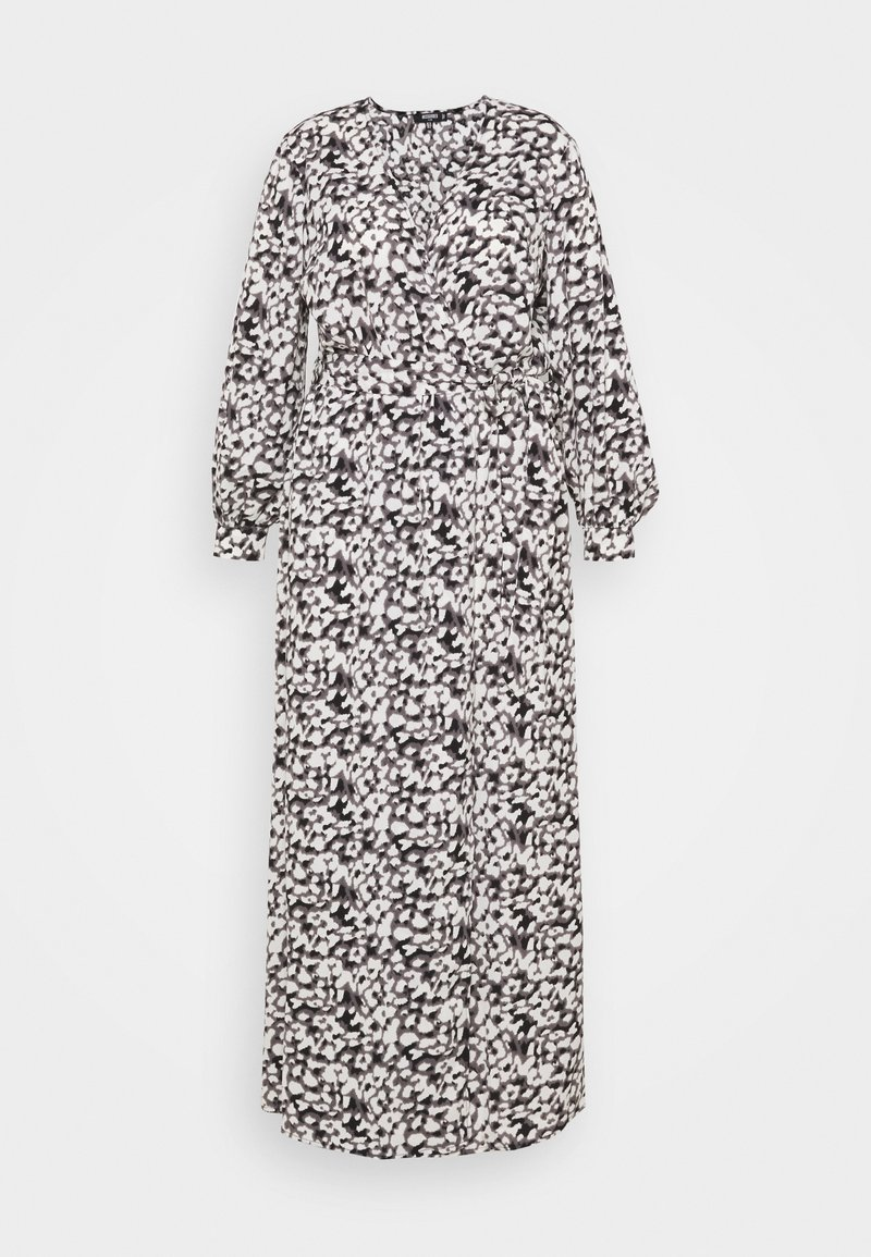 Missguided Plus - PLUNGE DRESS LEOPARD - Maxi dress - black
