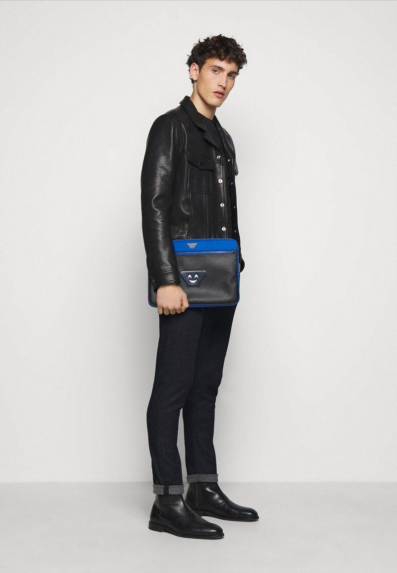 Emporio Armani - HANDBAG - Laptop bag - brightblue / electric blue/black