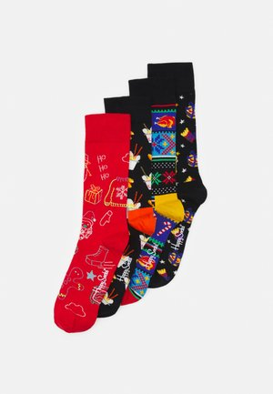 HAPPY HOLIDAY 4 PACK UNISEX - Ponožky - multi