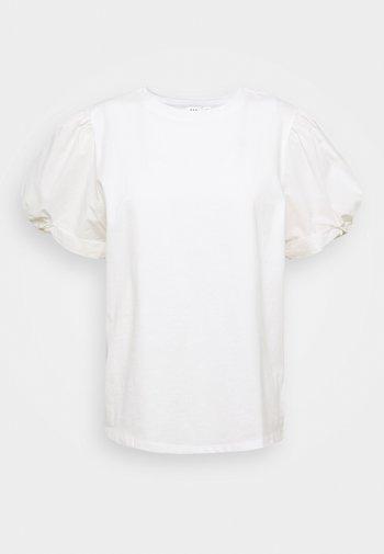 MIX PUFF - Basic T-shirt - white