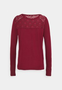 ONLY - ONLNICOLE LIFE NEW MIX  - Long sleeved top - pomegranate - 1