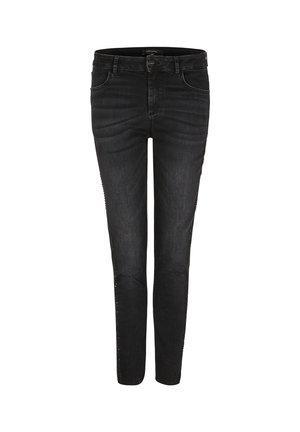 STRETCH MIT SEITLICHEN DEKONIETEN - Slim fit jeans - black
