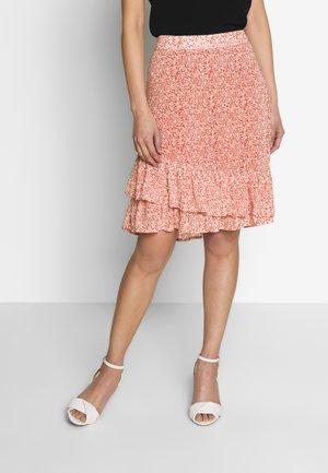 PILAR - Áčková sukně - redwood