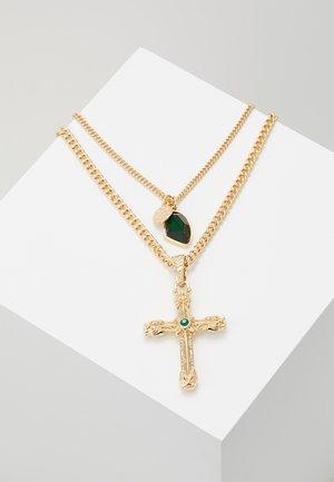 GEM CROSS MULTIROW - Halsband - green