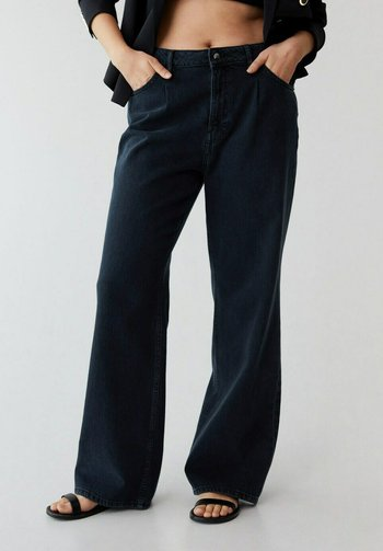 Flared Jeans - intensives dunkelblau