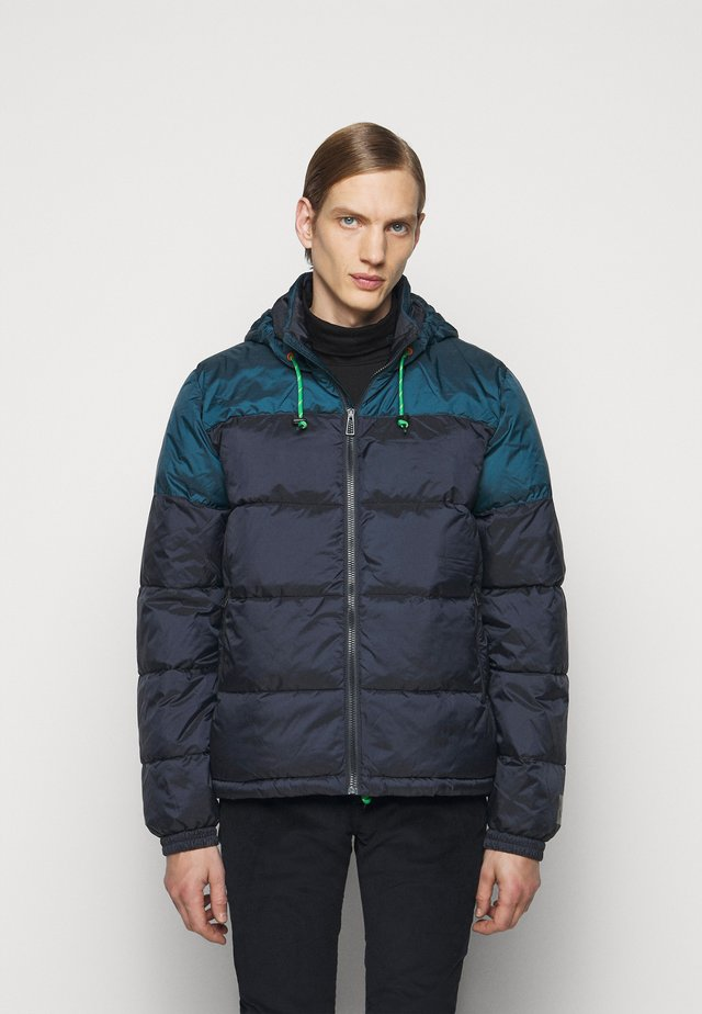 HOODED JACKET - Lehká bunda - dark blue