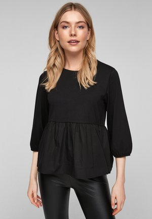 VOLANTS - Blouse - black melange