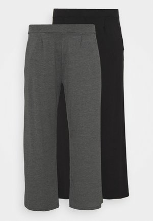 STRAIGHT LEG TROUSER REGULAR 2 PACK - Trousers - black/grey