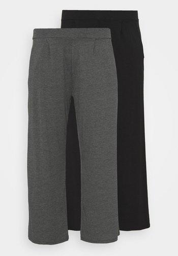 STRAIGHT LEG TROUSER REGULAR 2 PACK - Trousers - black/grey