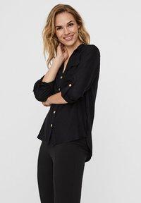 Vero Moda - Button-down blouse - black - 2