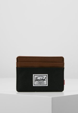 CHARLIE - Wallet - black/saddle brown