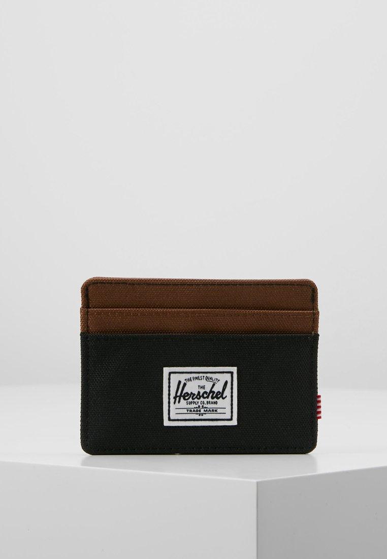 Herschel - CHARLIE - Portemonnee - black/saddle brown