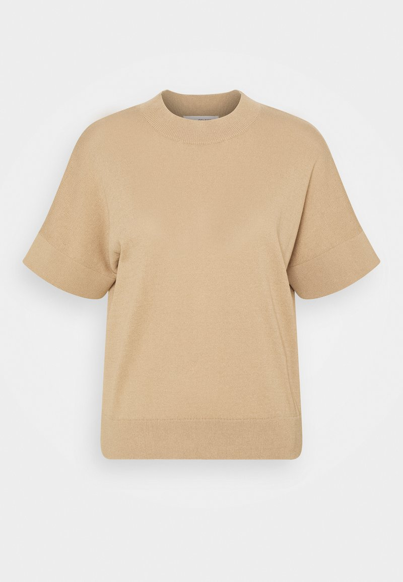 Selected Femme - SLFMAJA - Print T-shirt - taupe