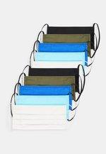 10 PACK - Maska z tkaniny - light blue/blue/white