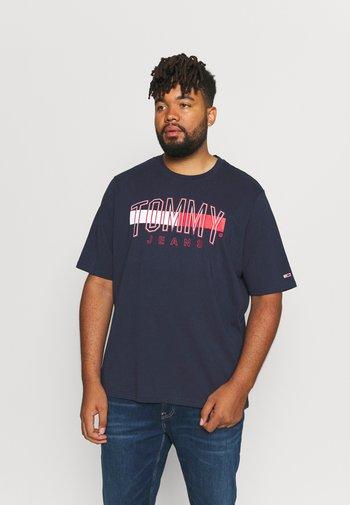 FLAG TOMMY TEE - Print T-shirt - twilight navy