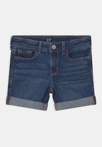 GAP - GIRL  - Denim shorts - dark-blue denim - 0