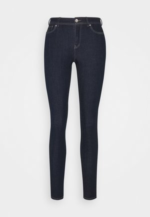 ONLWAUW LIFE MID SKINNY  DARK - Jeans Skinny Fit - dark blue