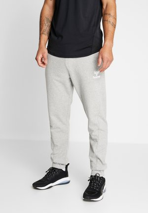 HMLISAM REGULAR PANTS - Tracksuit bottoms - grey melange