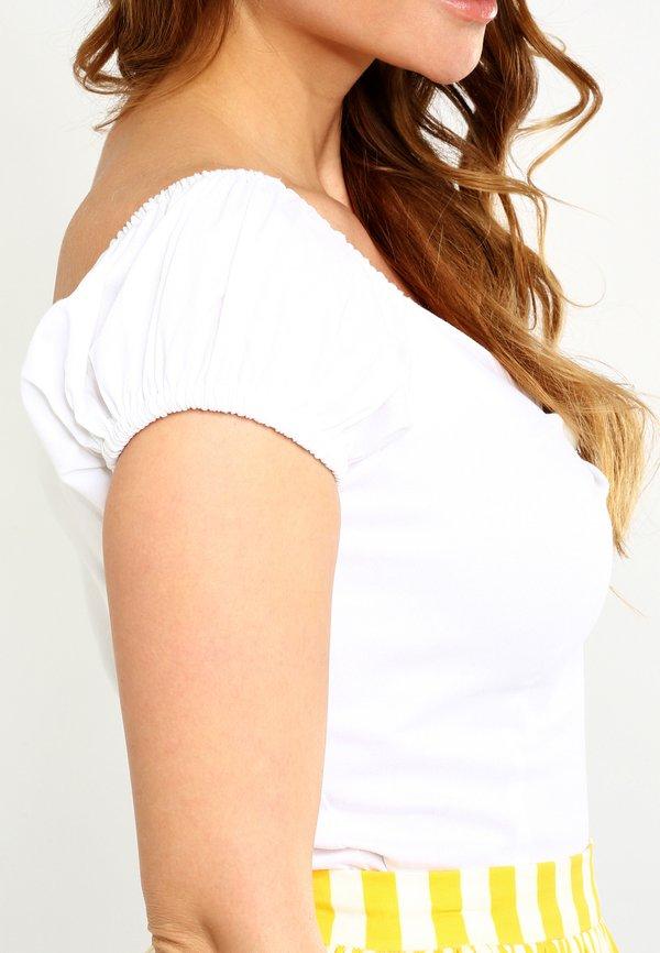 Collectif DOLORES - Bluzka - white/biały ABYV