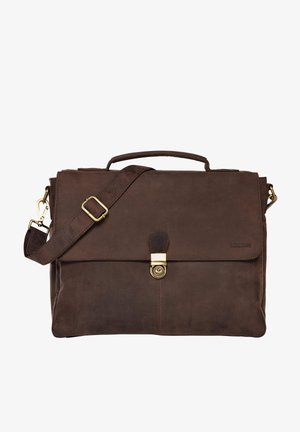 TEXAS - Briefcase - mottled brown