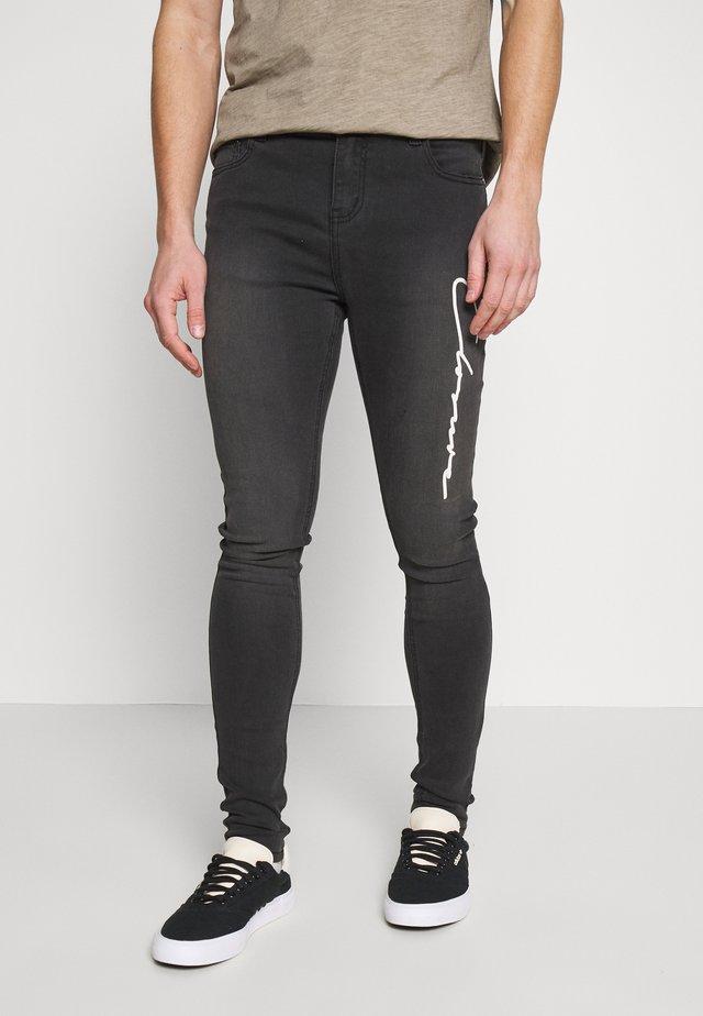 SCRIPT SPRAY ON - Jeans Skinny Fit - grey