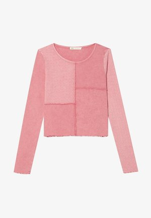 MIT PATCHWORK - Long sleeved top - pink