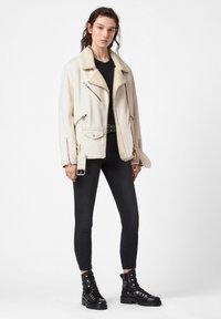 AllSaints - OVERSIZED DENIM BIKER - Denim jacket - white - 1