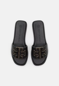 Tory Burch - DOUBLE T SPORT SLIDE - Pantofle - perfect black/gold